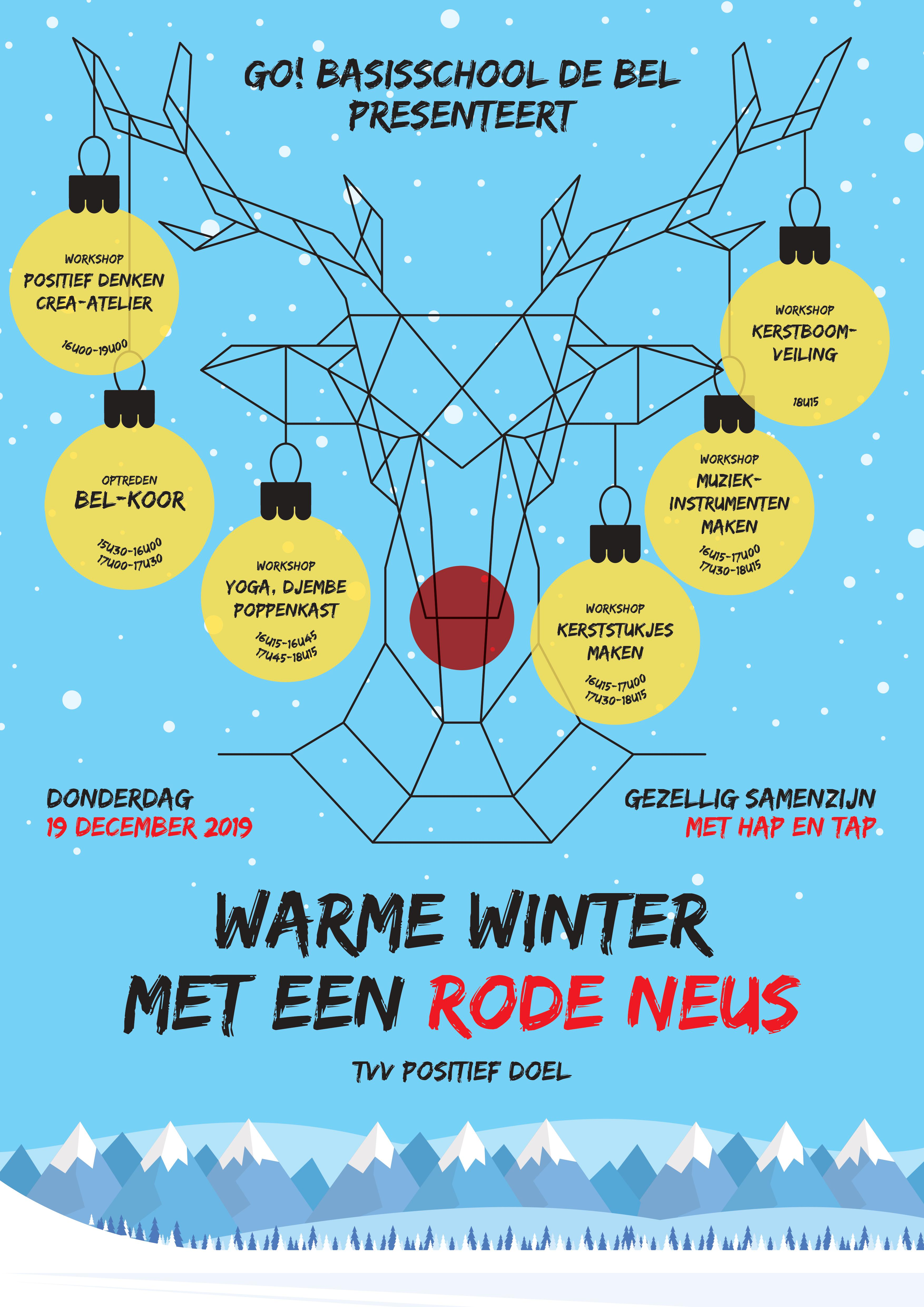Warme winter met een rode neus